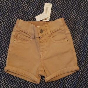 Gymboree tan denim shorts